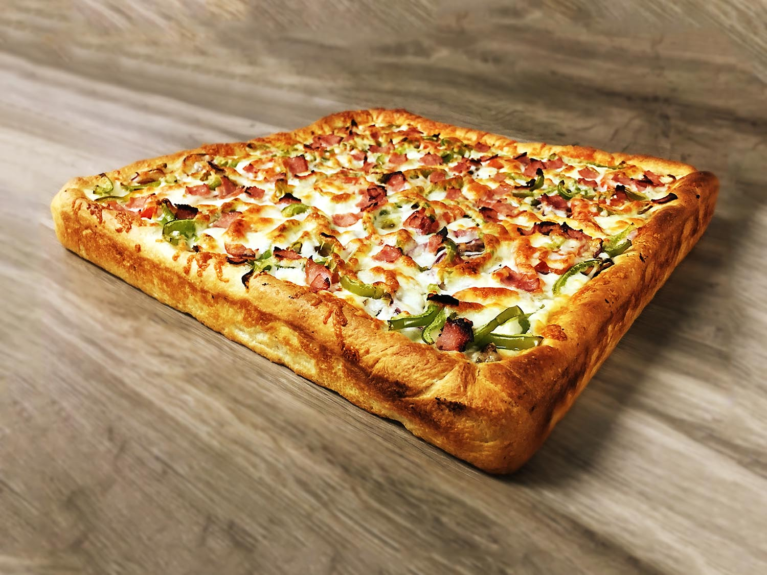 Image result for deep dish square pizza